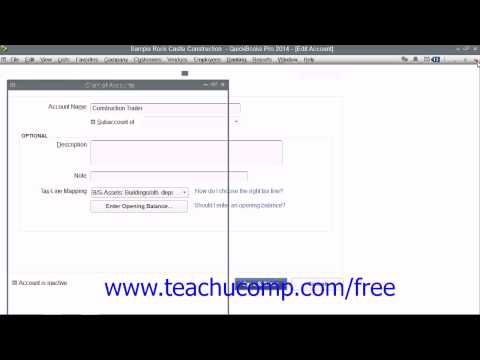 Learn about Creating Fixed Asset Accounts in QuickBooks Pro 2014 at www.teachUcomp.com. A clip from Mastering QuickBooks Made Easy. Get the complete tutorial for free at http://www.teachucomp.com/free - the most comprehensive QuickBooks tutorial available. Visit us today!
