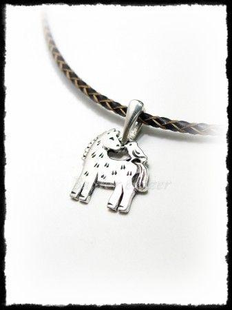 Ezüst ló-madár barátság medál