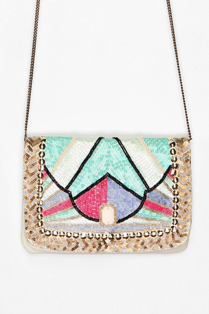 Kimchi Blue Art Deco Jeweled Clutch: Urbanoutfitters, Jeweled Clutch, Style, Purses Clutches Totes Bags, Art Deco, Blue Art, Kimchi Blue