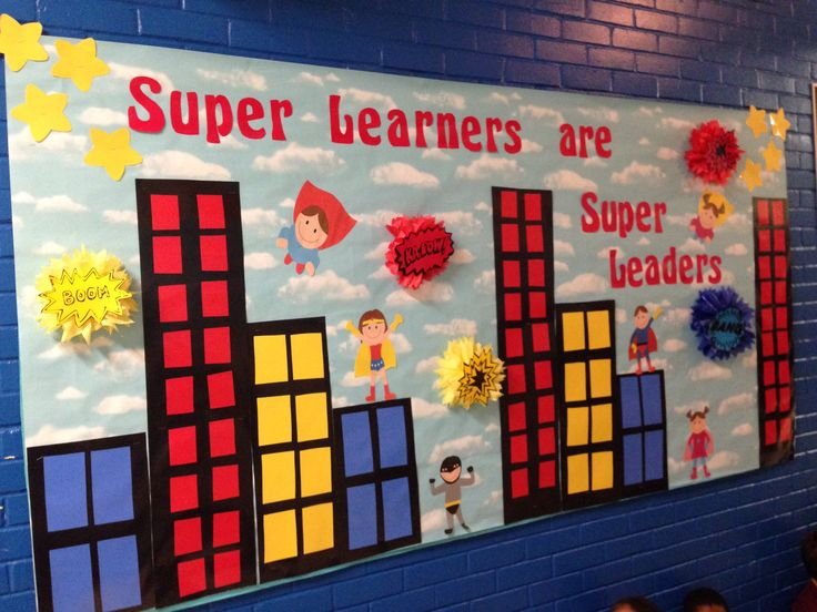 Super Learners are super...readers. love the colorful cityscape