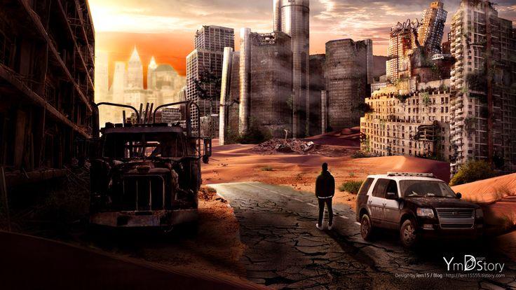 Photoshop Artwork #10 - Destruction City :: Ym.d_story
