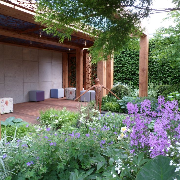 RHS Chelsea Flower Show 2016 London The Morgan Stanley Garden for Great Ormond Street Hospital Designed by Chris Beardshaw Built by Chris Beardshaw Projects Sponsored by Morgan Stanley #perennials #sculpture