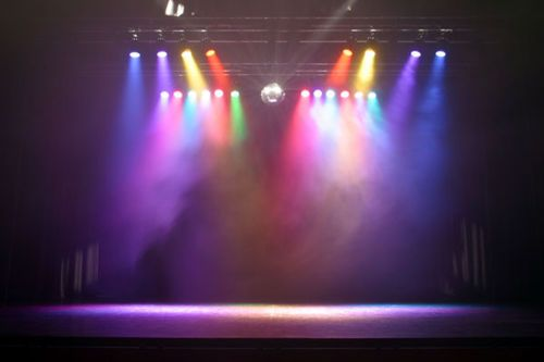 Stage Lighting Primary And Secondary Colors Absorbing Into