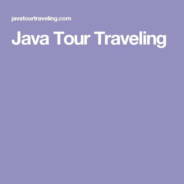 Java Tour Traveling