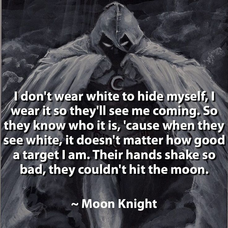 Moon Knight rocks! #moonknight by devilzsmile.com #devilzsmile