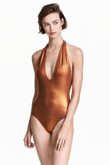 Kostium kąpielowy - Miedziany - ONA   H&M PL 1