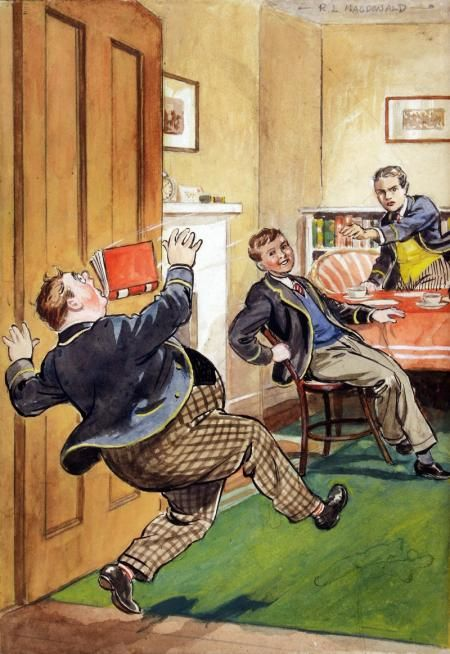 Billy Bunter - R J MACDONALD-----frontispiece from 'Bunter Does his Best'