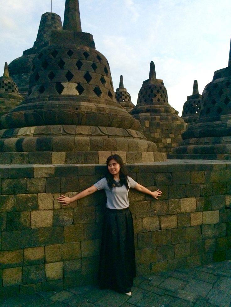Catching the sunset Borobudur