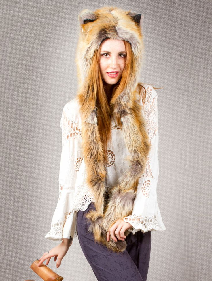 EvaFlorence.com - SpiritHoods Red Fox Faux Fur Hoodie  , $99.00 (http://evaflorence.com/spirithoods-red-fox-faux-fur-hoodie-sold-out/)