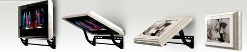 Flip-Around TV mount modern bulletin board