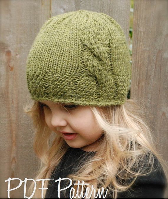 Knitting PATTERN-The Cadryen Cloche' (Toddler, Child, Adult sizes)