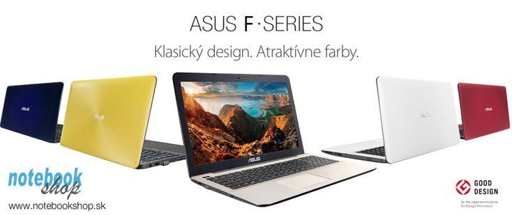 ASUS F555 - Notebooky F555 s grafikou NVIDIA GeForce GT930M-GT940M, Full HD displejom v rôznych farebných prevedeniach za super ceny.