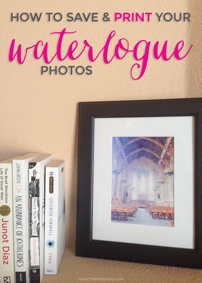 How to best save your waterlogged photos for printing! #tutorial #waterlogue #watercolor