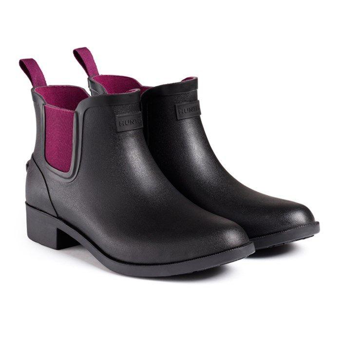 Belsize Hayden Short - Black/Dark Ruby | Hunter Boot