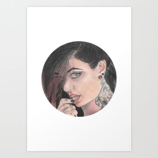 Cervena portrait Art Print by Chiara - $16.00