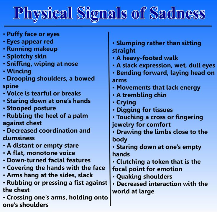 Body language & empathy. Signs of sadness in others