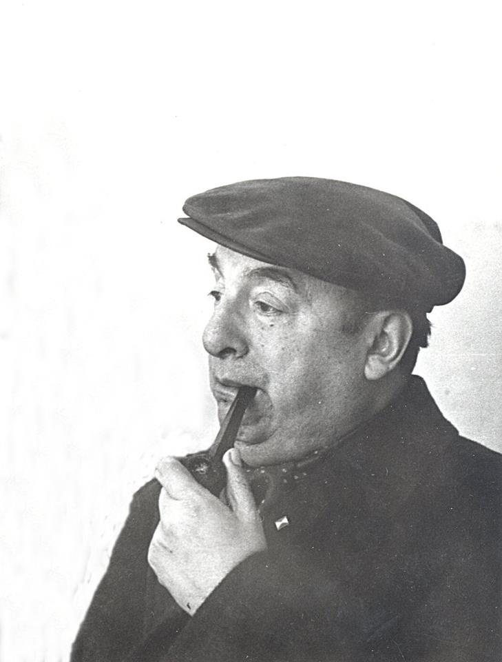 Pablo Neruda (July 12, 1904 - September 23, 1973) was a Chilean poet, diplomat, & politician. His eclectic writing style covered surrealist poems, historical epics, overtly political manifestos, a prose autobiography, & erotically-charged love poems. He won the Nobel Peace Prize of Literature in 1971. Served as a senator for the Chilean Communist Party, & later as a close advisor of Chile's socialist president, Salvador Allende. See: Veinte poemas de amor y una canción desesperada.