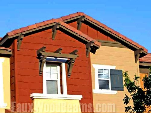 Gable Roof Design With Decorative Outlookers | Faux Wood Workshop