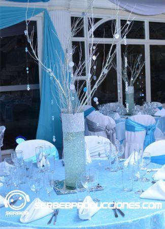 Centros de mesa con bolas de gel chamizos faj n for Decoracion de cielo