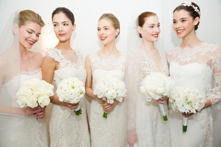 The new brides of #Spring2015 at #carolinaHerrera