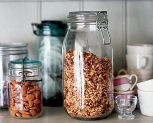 Far too rich to use on its own, use this muesli as a crunchy texture and sprinkle over yoghurt and poached fruit