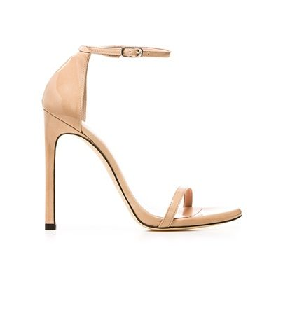 Nude strappy sandal. See why it's a closet must-have and shop it and 29 other trend-resistant pieces every woman should have by the time she's 30.