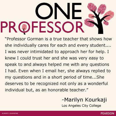 Marilyn Kourkaji honors Professor Monica Gorman, Los Angeles City College