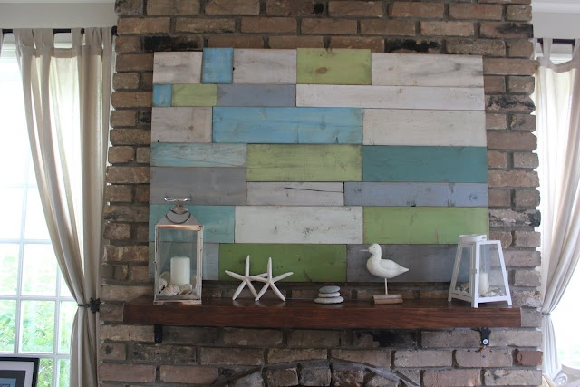 EllaBoo & Co.: And Voila.... Art!: Wood Art, Ideas, Wallart, Beaches House Decor, Diy Art, Wood Wall Art, Scrap Wood, Diy Wall Decor, Art Pieces