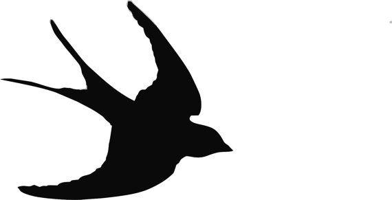swallow bird stencil