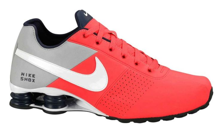 nike shox   Foto Tenis Nike Shox Deliver Cinza, Vermelho e Preto