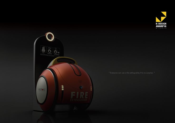 Fireball (Automatic fire extinguisher) on Behance