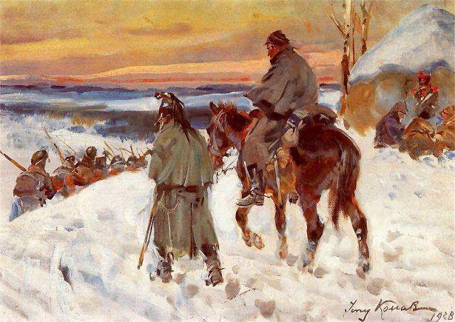 Jerzy Kossak, Powrót spod Moskwy, 1928