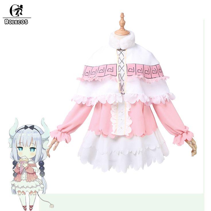 Rolecos nuevo anime kobayashi san chi no maid maid disfraces cosplay dragón dragón de srta. kobayashi kanna kamui cosplay disfraces