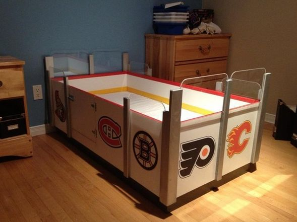 Custom Hockey Bed - Kids Hockey Bed - Custom Ice Rink