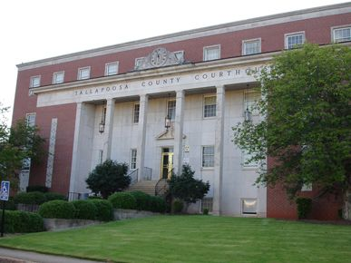Tallapoosa County courthouse, Dadeville, Alabama. Interesting story about this place. Early deeds record Cherokee names.