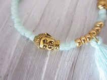 Armband Buddha Elefant Quaste türkis gold