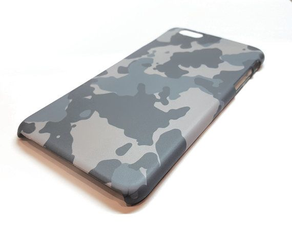 Grey camouflage iPhone SE case, Camo phone cases for iPhone 6 case, iPhone 7 case, Camouflage Samsung Galaxy S7, S6, S5, Samsung A5 case