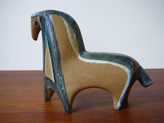 Lisa Larson Horse Lilla Zoo Gustavsberg Sweden $211.18 at DancesWithVases