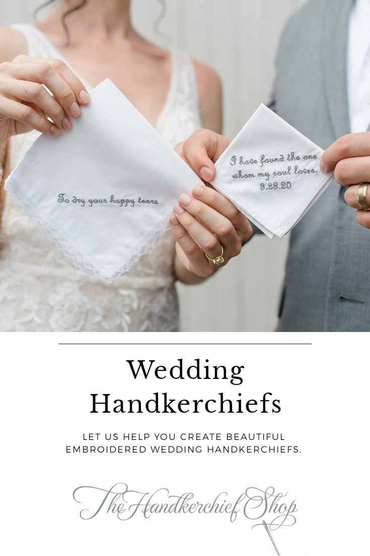 Wedding Handkerchiefs For The Bride Groom At The Handkerchief Shop Wedding Handkerchief Embroidered Handkerchief Wedding Personalized Handkerchiefs