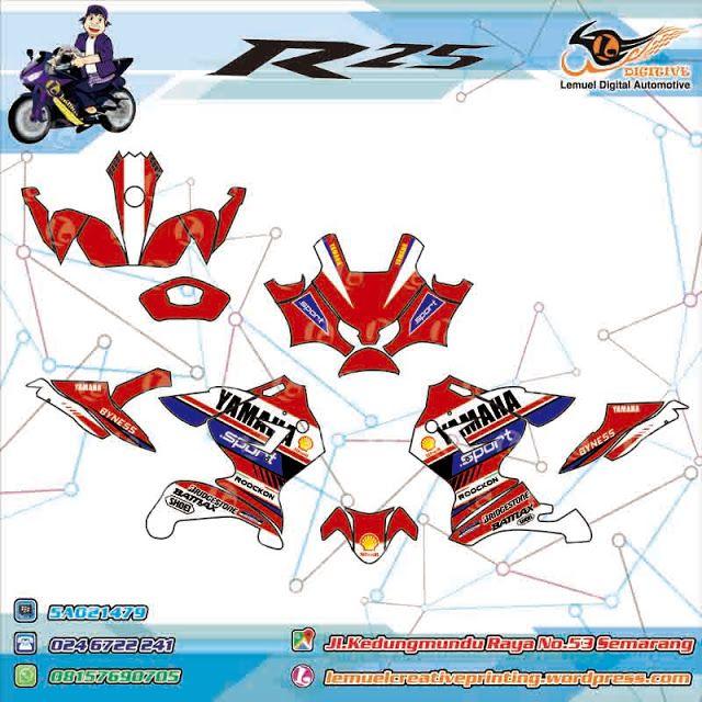 Custom Decal Vinyl Full Body Striping Motor Yamaha R25 Thema Yamaha Sport Berkualitas by DIGITIVE