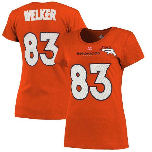 Wes Welker Denver Broncos Majestic Women's Fair Catch V Name & Number T-Shirt – Orange - $14.99