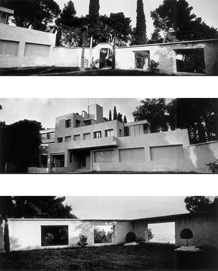 Nel 1923, Charles e Marie-Laure de Noailles commissionano a RobertMallet‑Stevens la costruzione della villa. Mondrian, Laurens, Lipchitz, Brancusi e Giacometti forniscono le opere d'arte, Jourdain i mobili e Guévrékian realizza il giardino cubista. La villa di 1800m2 ha 15 camere, una piscina e un campo da squash. Qui i Noailles ospitano Dali, Gide, Breton, Artaud, Poulenc, Lifar, Huxley e la maggior parte degli artisti emergenti dell'epoca.