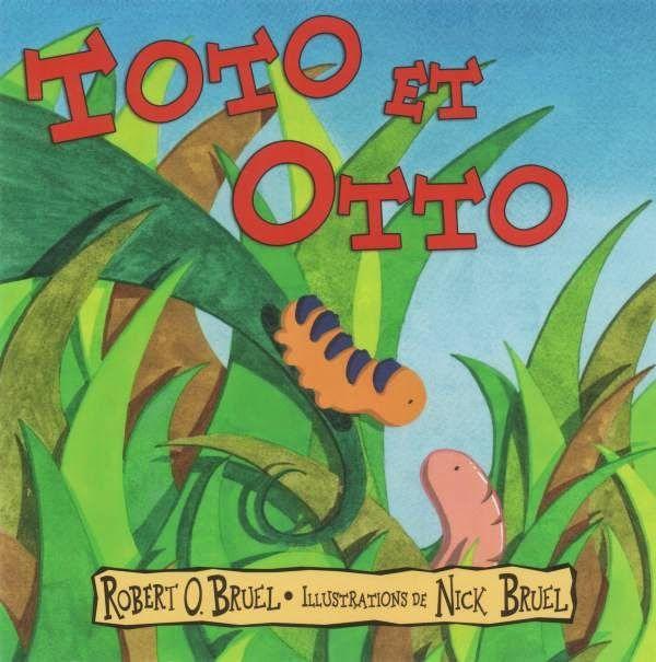 CPRPS 31997000907030 Toto et Otto. Tandis que Toto la chenille sent le besoin de grimper sur un arbre, son ami, Otto le ver de terre, préfère s'enfoncer dans le sol pour creuser. La chenille, se nourrit si bien qu'elle s'endort dans un cocon. À son réveil, elle est devenue papillon. Impressionné par les magnifiques ailes de son ami, Otto regrette de ne pas l'avoir suivie. Mais Toto le rassure en l'informant de sa grande utilité pour le sol et les arbres et de son amitié indéfectible. [SDM]