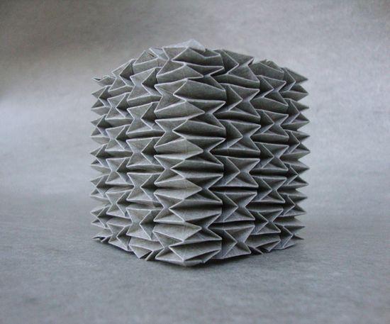 Andrea-Russo origami sculpture - Locus munitus I - IV XI MMIX  #paper #folding #pleats