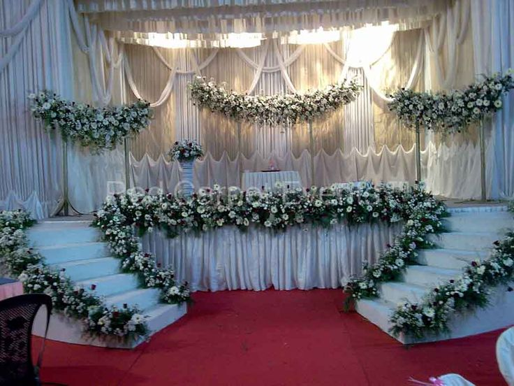 Stunning Wedding Stage Decorations for Christians in Kerala ...