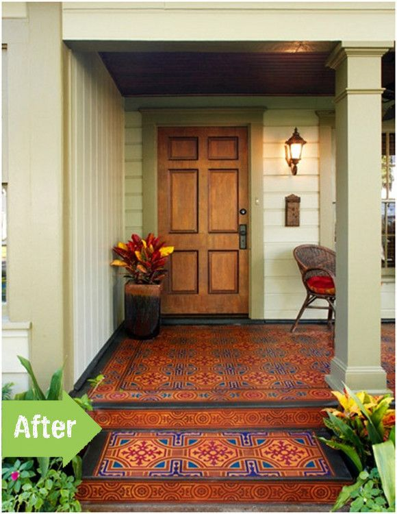 142 best images about porch before and afters on pinterest for What color to paint my front porch