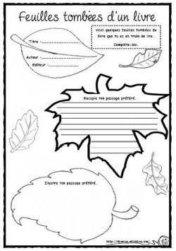 Feuilles tombées d'un livre - des idées pour le carnet de lecture