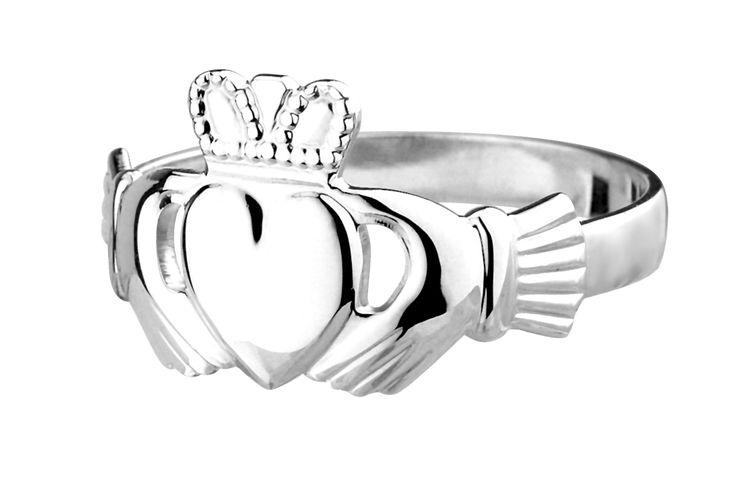 """Claddagh Ring aus Irland, Sterling Silber Im Film """"Verlobung auf Umwegen"""" gesehen. So wunderschön *_*"""