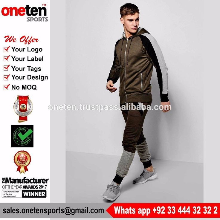 Skinny Fit Paneled Tracksuit With Drop Crotch New Designer Tracksuit Skinny Slim Fit Joggers Pants Bottoms & Zip Hooded
