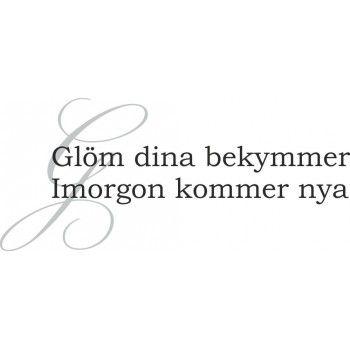 Glöm dina bekymmer, imorgon kommer nya - balorina.se